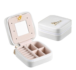 High Quality PU Leather Jewelry Box for Earring and Ring
