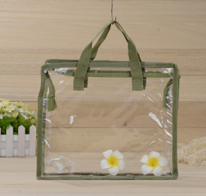 Transparent PVC Senw Portable Zipper Bag