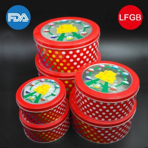 Bright Red Packaging Box/Metal Box/Present Box for Foods (R009-V1)